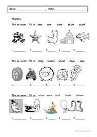 Free and zero prep printable books to introduce phonics letter and sounds. Revision Ee Oo And Ar Sound English Esl Worksheets For Distance Learning And Physical Classrooms