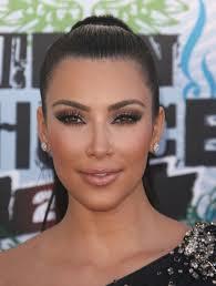 brown bronze eyes makeup kim kardashian