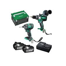 hitachi 18v drill. hitachi 18v 6ah brushless 2pc kit drill + impact driver 18v