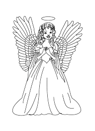 Beautiful Angels Coloring Pages Print Coloring Pages