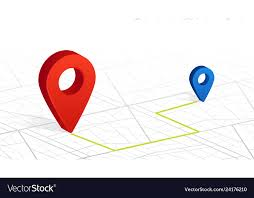 Red Checking Gps Navigator Pin Checking Point To Point Red