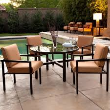 Small Outdoor Table Set Patio Metal Patio Furniture Sets With Small Round Patio Table And