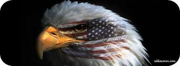 american flag on eagle facebook cover