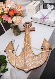 Decorating: Beach Wood Anchor Guest Book - Beach Wedding Ideas