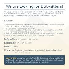 Baby Sitters Wanted Babysitters Wanted Fernie Com Fernie Blogs