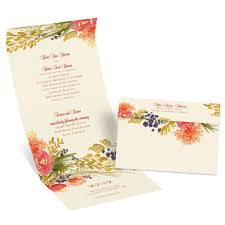 Fall Invitation Fall Florals Seal And Send Invitation Anns Bridal Bargains
