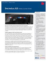 Internal Lighting System Spectralux Ils Data Sheet Manualzz Com