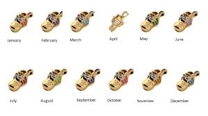 nana birthstones baby shoe charm pendant necklace made with swarovski zirconia in sterling silver