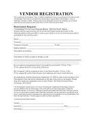 Vendor Registration Form For Event Rome Fontanacountryinn Com