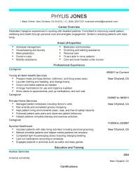 Resume Template Caregiver Resume Samples Free Career Resume Template