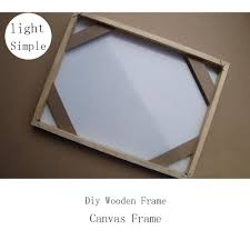 simple wood picture frames. Simple Diy Wooden Inner Frame Wood Framework Photo Light For Canvas Prints Oil Painting Wall Art Picture Frames-in From Home \u0026 Garden Frames B
