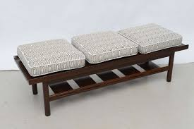 midcentury modern walnut bench or table at stdibs