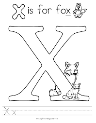 Small Picture X Coloring Pages