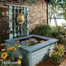 elegant outdoor fountain pond outdoor pond ideas pond in a box the family handyman