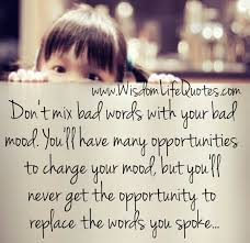 Words Of Wisdom About Life And Love Don't mix bad words with your bad mood Wisdom Life Quotes 22