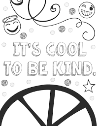 Showing Kindness Coloring Page Free Printable Pages At