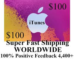 100 us itunes gift card voucher certificate apple fast free worldwide shipping
