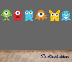 cool wall decals for kids monster wall decals