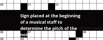 Musical Staff Sign Sign Placed At The Beginning Of A Musical Staff To Determine The