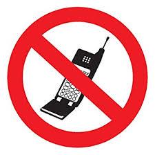 Amazon Com Headline Sign 3634 Self Stick Sign No Cell Phones 3