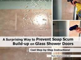 Shower Door clean shower door photographs : A Surprising Way to Prevent Soap Scum Build-up on Glass Shower Doors