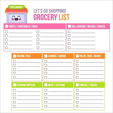 grocery list template printable template shopping checklist template blank grocery list christmas