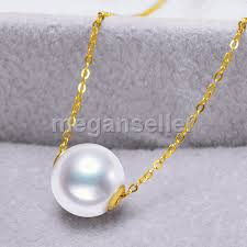 tahitian natural black pearl one pearl single pearl pendant necklace 18k gold