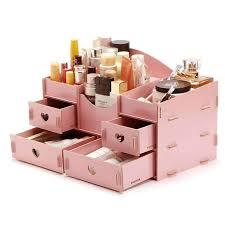 makeup organizer wood. wooden cosmetics organizer storage box:sarahsale. makeup wood w
