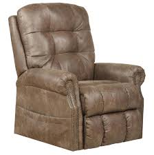 catnapper ramsey power lift lay flat recliner with heat and massage in silt 4857 1227 49 3027 49
