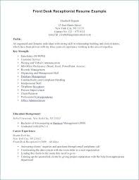 Sample Hotel Desk Clerk Resume Resume For Front Desk Hotel Front