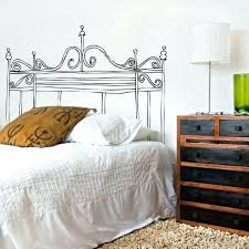 headboard wall decal twin wall decal bed grill style vinyl wall decal bedroom decal modern headboard headboard wall decal twin