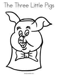 Small Picture The Three Little Pigs Coloring Page Twisty Noodle