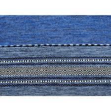 kelim flat weave rug blue 120 x 170 cm 4 x