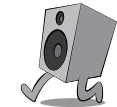 sound system clipart. sound on the run system clipart a