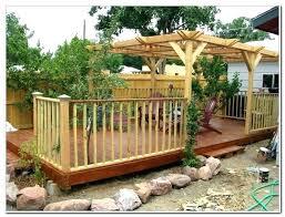 build a floating patio deck decks home decorating ideas plans wooden