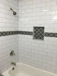 large glass tiles 1429 best bathroom niches images on