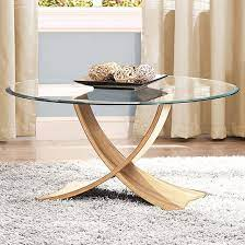 anfossi round clear glass coffee table