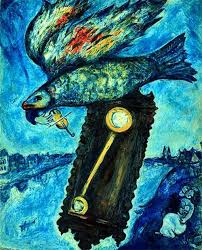 marc chagall time is a river without banks oil on canvas