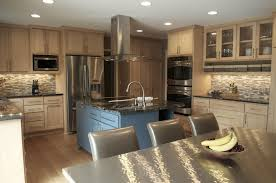 sweet kitchen decoration kitchens light wood cabinets photos oak units white gloss countertops dark brown color