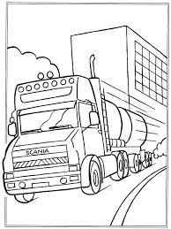 Kids N Fun Kleurplaat Vrachtwagens Scania