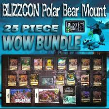 While the rigging on the bears differs between alliance and horde, you are only offered your faction's version by mei francis in dalaran for 750. 2008 Blizzcon Tcg Loot Card World Of Warcraft Polar Bear Mount Big Blizzard Bear Ebay