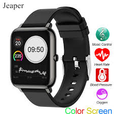 Jeaper <b>P22</b> Smart Watch <b>Full Touch</b> Blood Pressure Band Heart ...