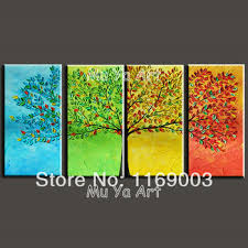 >buy 4 piece wall art african painting sunset animal painting 100  buy 4 piece wall art african painting sunset animal painting 100 hand painted art large canvas art abstract oil painting group painting free shipping