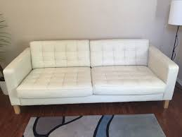 Small Picture IKEA Karlstad 3 Seater Sofa tufted white leather for sale in Lake