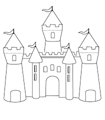 Small Picture Free Printable Castle Coloring Pages For Kids