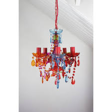 gypsy chandelier pendant ceiling light multi coloured small droplets 5 lights