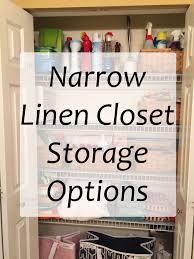 Narrow Linen Cabinet Narrow Linen Closet Storage Options