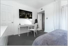 grey carpet bedroom. furniture white wooden desk chair grey carpet connected lcd tv wall exciting designs small bedroom attached
