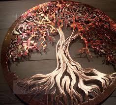 tree of life pure copper humdinger designs copper wall decor home renovation 7th anniversary wedding gift