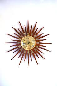 mid century sunburst wall clock from anstey wilson cute wall starburst wall clocks